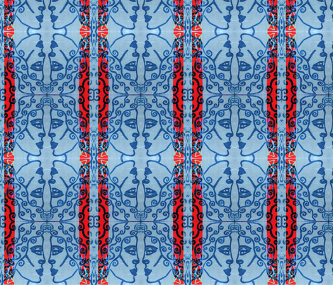 Helenic Rhythm fabric by carlacryptic on Spoonflower - custom fabric