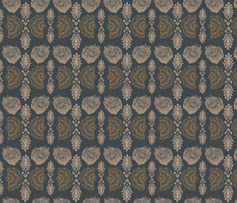 Dresden  Gold fabric by susiscauldron on Spoonflower - custom fabric