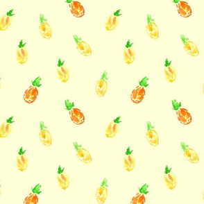 Baby pineapples on cream