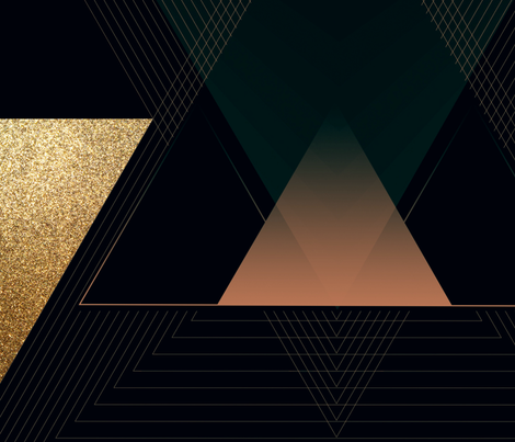 Large Art Deco Triangles fabric by veata_atticus_store on Spoonflower - custom fabric
