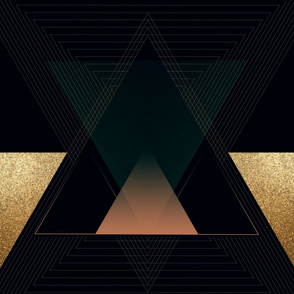 Large Art Deco Triangles