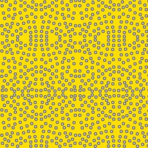 A Lacy Mesh of Twinkling Dots on Daffodil Yellow