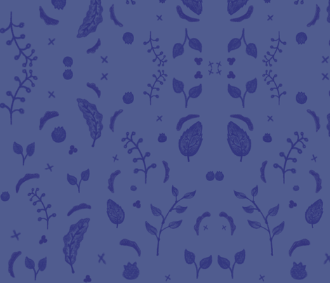 Berry branch fabric by ebright on Spoonflower - custom fabric