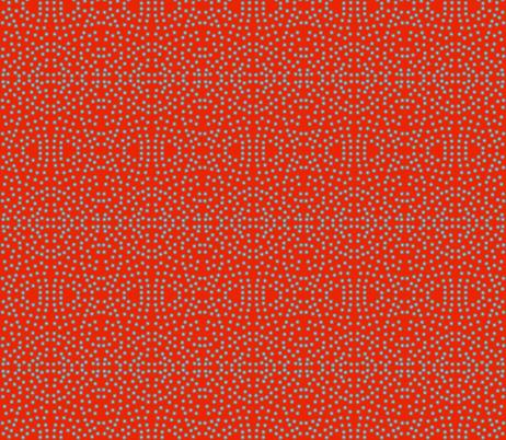 A Lacy Mesh of Twinkling Dots on Nasturtium fabric by rhondadesigns on Spoonflower - custom fabric