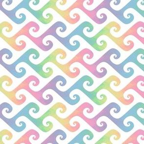 small rainbow waves pastel