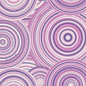 Ultra Violet Pink lavender ceramic circles
