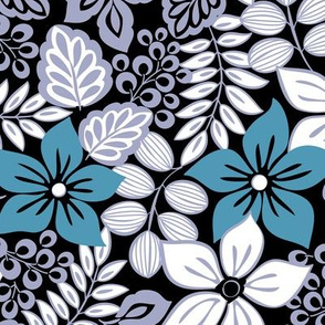 Tropical Floral Teal