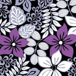 Tropical Floral Purple