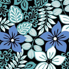 Tropical Floral Aqua
