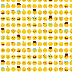 cheeky emoji faces all over pattern