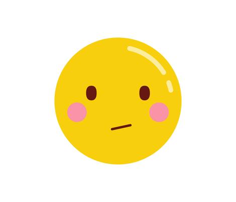 cheeky emoji faces confused fabric by misstiina on Spoonflower - custom fabric