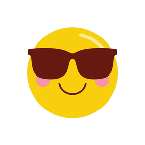 cheeky emoji faces cool shades dude