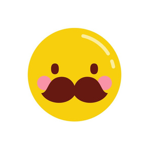 cheeky emoji faces with mustache