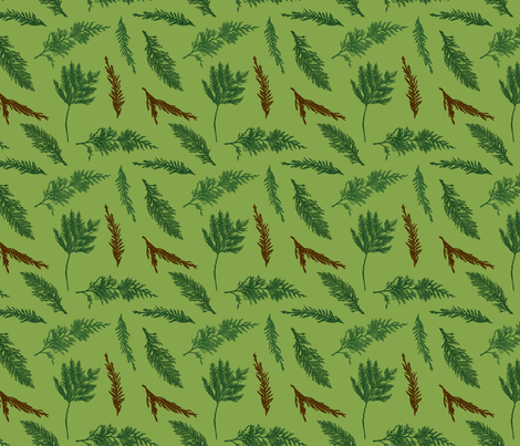 Evergreens fabric by phillustrations on Spoonflower - custom fabric