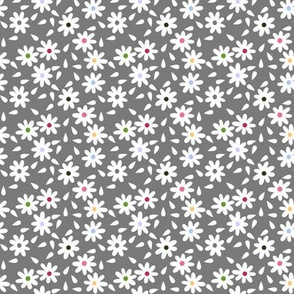 Flour Sack Florals in Gray