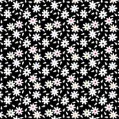 Flour Sack Florals in Black