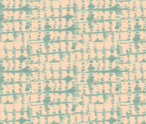 Parallel Green Peach Small Scale fabric by mjmstudio on Spoonflower - custom fabric