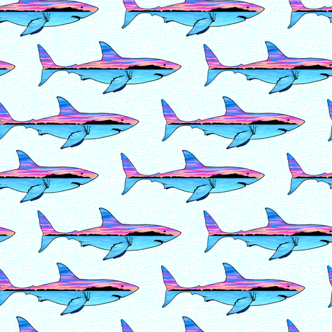Channel Islands Great White fabric by christinemay on Spoonflower - custom fabric