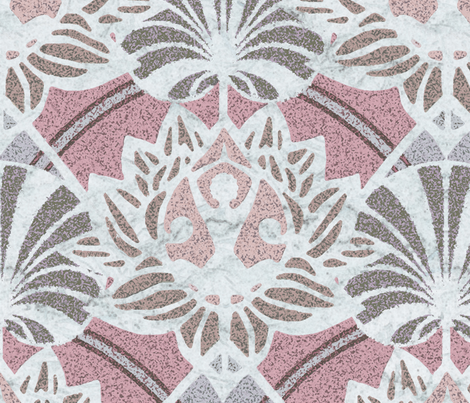 Art deco yoga lotus fabric by lucybaribeau on Spoonflower - custom fabric