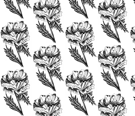poppy fabric by hharrison_art on Spoonflower - custom fabric