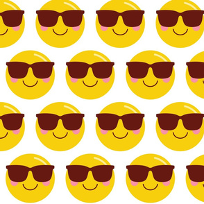 cheeky emoji faces cool shades dude XL
