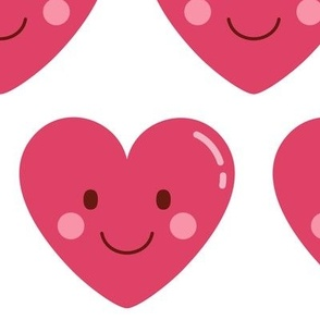 cheeky emoji faces heart love XL