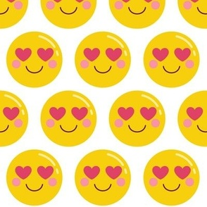 cheeky emoji faces heart eyes LG