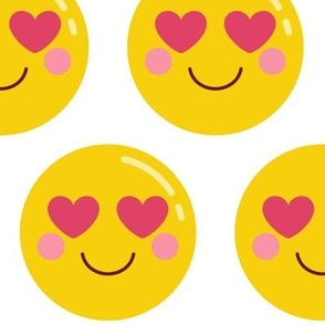 cheeky emoji faces heart eyes XL