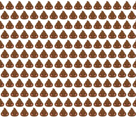 cheeky emoji faces oh poop fabric by misstiina on Spoonflower - custom fabric