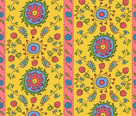 Rsuzani-half-drop-wide-stripe-yellow-with-black-lines-coral-stripe-01_shop_preview