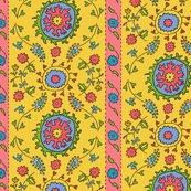 Rsuzani-half-drop-wide-stripe-yellow-with-black-lines-coral-stripe-01_shop_thumb