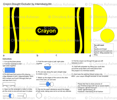Yellow Crayon Draught Excluder