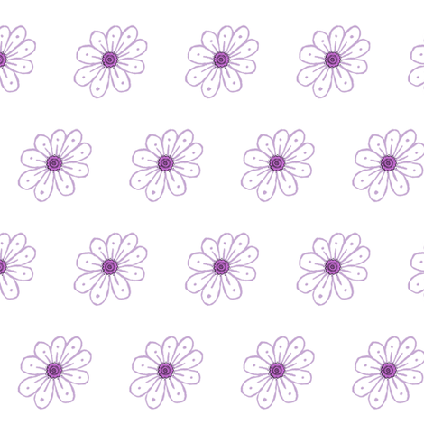 Easter Parade White and Purple Daisy fabric by betz on Spoonflower - custom fabric