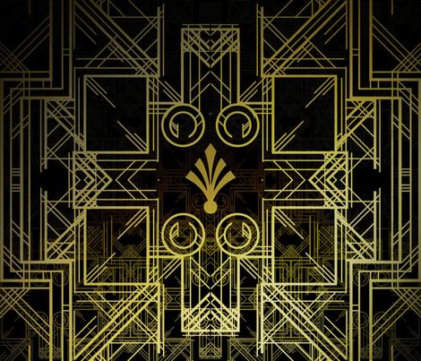 Art Deco Circuit fabric by whimsicalvigilante on Spoonflower - custom fabric