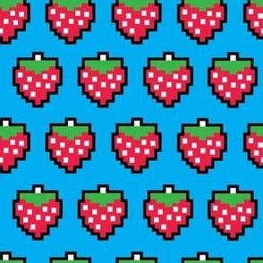 aloha bit strawberry on blue