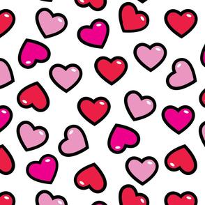 aloha hearts red