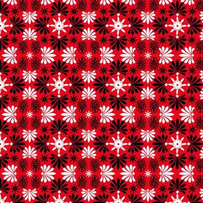 Merry Christmas-Red-White-Black