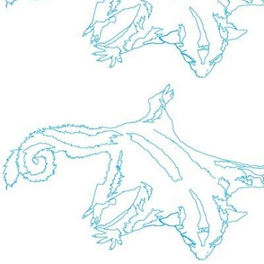 Large Blue Sketch Sugar Glider