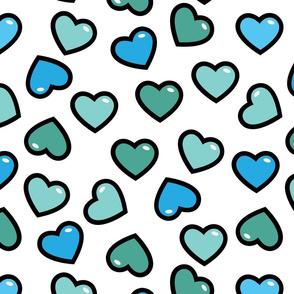 aloha hearts blue