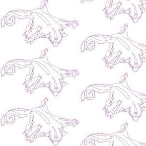 Purple Sketch Sugar Glider