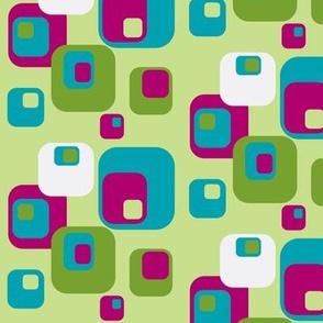 green fuchsia  funky squares-ch