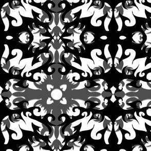 StacyCK Studio - Black & White Scrolls - Winter Repeat 2.0