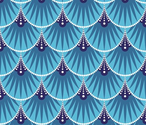 Art Deco Scales fabric by heatherhightdesign on Spoonflower - custom fabric
