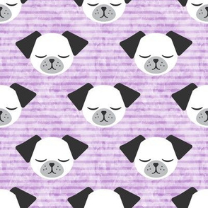 dog on stripes (purple)