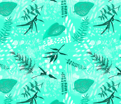 Monochrome Leaves fabric by brittemily on Spoonflower - custom fabric