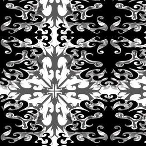 StacyCK Studio - Black & White Scrolls - Winter Repeat 1.0