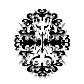 StacyCK Studio - Black & White Scrolls - Panel