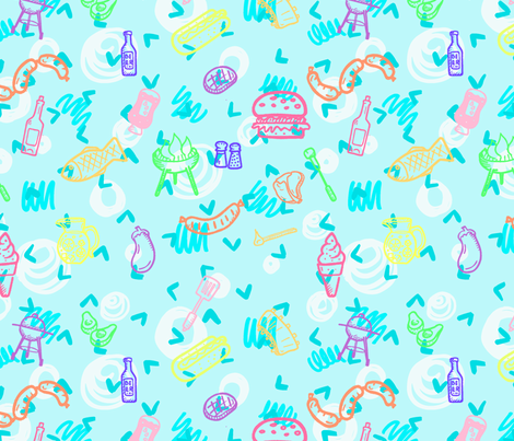 Summer Cookout fabric by brittemily on Spoonflower - custom fabric