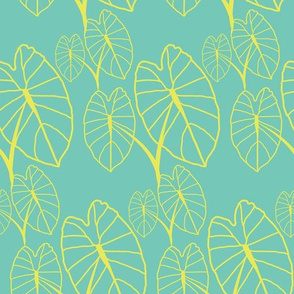 Lo'i Love Yellow on Teal