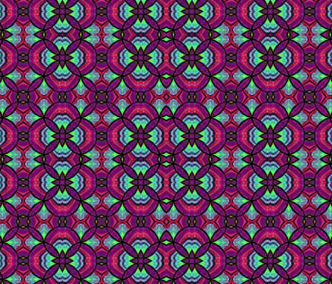 magenta peacock fantasy fabric by beesocks on Spoonflower - custom fabric